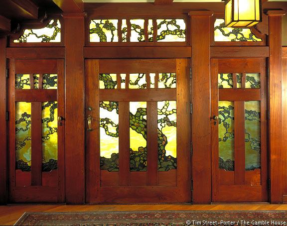 Interior photographs of the gamble house