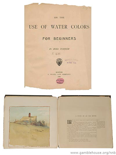 On the use of water colors for beginners