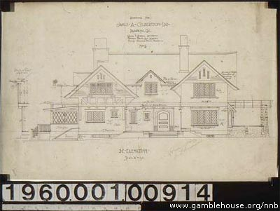 James A. Culbertson house elevation