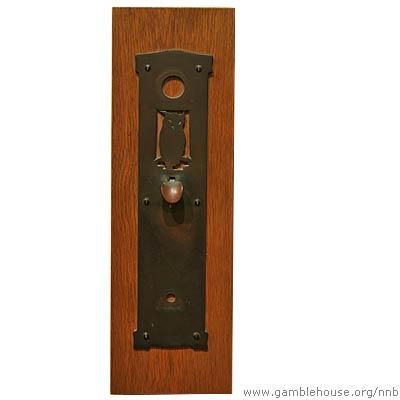 Adelaide A. Tichenor Metal door escutcheon