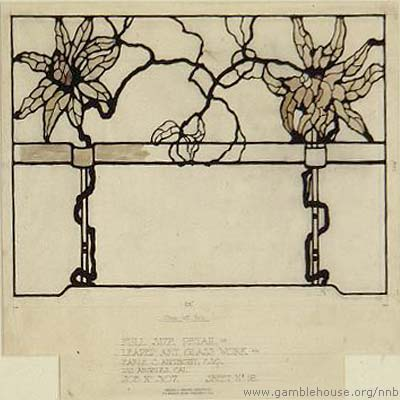 Earle C. Anthony Design for leaded glass window