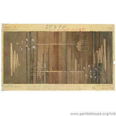 David B. Gamble Design for living room rug (one of three)