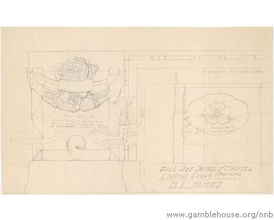 D.L. James design for mantel decoration