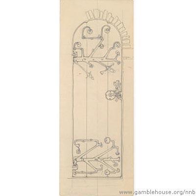Martin Flavin, two designs for door
