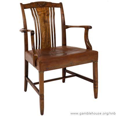 Mortimer Fleishhacker, Game room arm chair