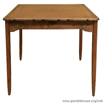 Mortimer Fleishhacker, Game-room table