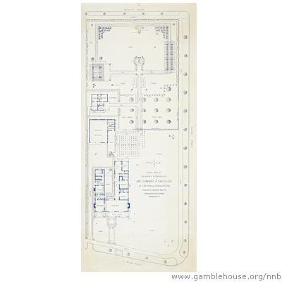 Plan of garden, Edward S. Crocker