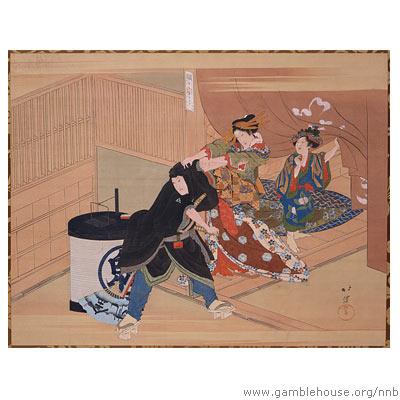 "Totoya Hokkei, Parody of ""Rashomon"""