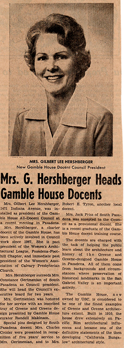 Glenice Hershberger-DocPres-SoPasadena-Review-July-28-1975
