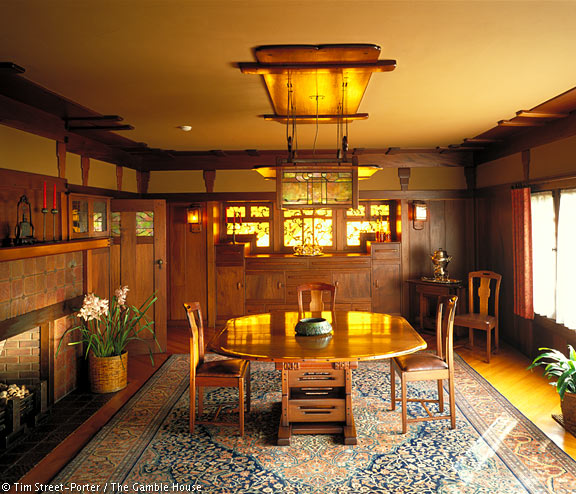Interior Photographs Of The Gamble House Gamble House