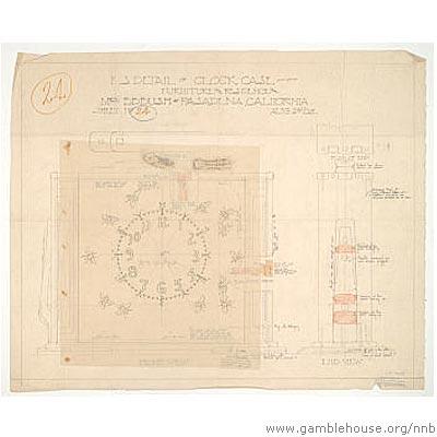 Belle Barlow Bush Design for clock case