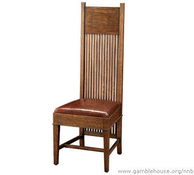 Frank Lloyd Wright: Tall back side chair